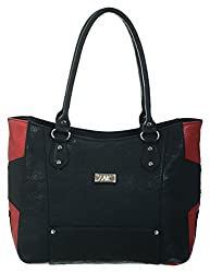 Zak Women PU Handbag (Black and Red)