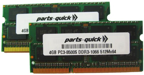 8Gb 2X 4Gb Pc3-8500 1067Mhz Ddr3 Apple Ram Memory Sodimm 204Pin (Parts-Quick Brand)