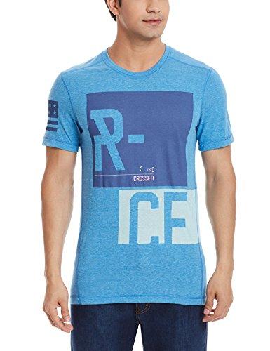 Reebok Crossfit performance blend graphic t-shirt uomo blu-S