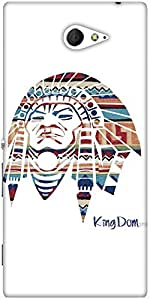 Snoogg Red Indian Designer Protective Back Case Cover For Sony Xperia M2