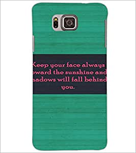 PrintDhaba Quote D-4422 Back Case Cover for SAMSUNG GALAXY ALPHA (Multi-Coloured)