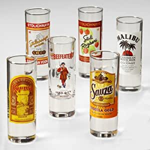 Decorated Shooter Glasses 6-pc. Set