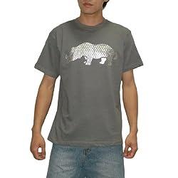 Mens Ecko Unltd Crew-Neck Short Sleeve T Shirt / Tee - Grey (Size: L)