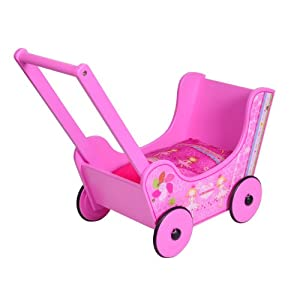 Knorrtoys.com 69904 Walky Princess - Coche de paseo de madera para muñecas, color rosa