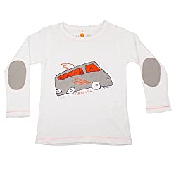 NeedyBee T-Shirt BUS Theme Long Sleeve Baby Boys and Baby Girls Organic 100% Cotton T Shirt for Kids 2 - 9 Years