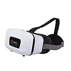 Micomy VR 9XX Universal 3D VR Headset / VR Glass Virtual Reality Headset with Zoom and Lens Adjustable Feature for all Smartphones (3.5 to 5.5 inches) -White