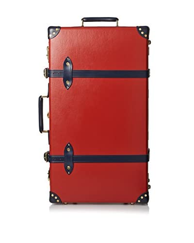 Globe-Trotter 30″ Centenary Glide Extra Deep Suitcase, Red/Navy