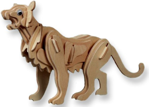 3-D Wooden Puzzle - Small Mountain Lion -Affordable Gift for your Little One! Item #DCHI-WPZ-M025A
