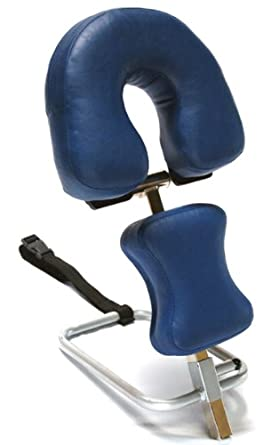 "3B Scientific W15056DB Dark Blue Stainless Steel Adjustable Headrest, For Use With Therapy Tables, 11.8"" Length x 15.7"" Width x 9.4"" Height"