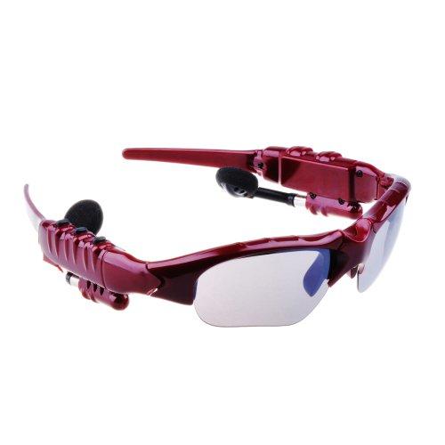 Victsing Bluetooth Headphone Sunglasses For Iphone 4 4S 5 5G Ipad 2 3 4 Ipad Mini Hands-Free Red