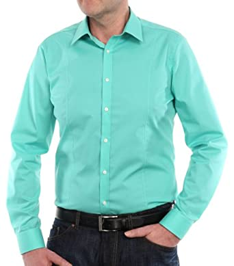 Venti Herren Businesshemd Slim Fit 001470/306, Gr. 37, Grün (306 grün)