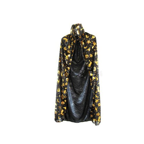 niceeshopTM Gold Tone Halloween Overcoat Witch Cape Cloak Mantle For Adults