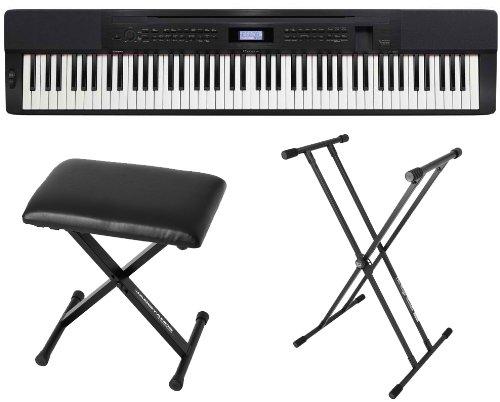 Casio Px350 Bk 88 Key Digital Piano Black W/Power Supply, Bench And Stand