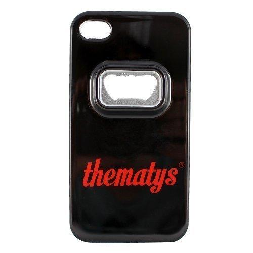 Apple iPhone 4 4S Original thematys® FLASCHENÖFFNER Bier Design Case Schutz-Hülle Cover Schale Etui handyhülle thematys®