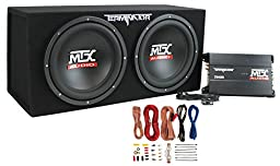 Mtx TNP212D2 12-Inch 1200W Dual Loaded Subwoofer Audio Sub with Box with Amplifier with Amp Kit