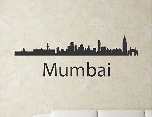 Mumbai India City Skyline Vinyl Wall Art Decal Sticker front-1080414