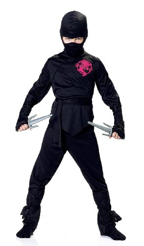 Child Black Ninja Boy Costume for Halloween Medium 7-8