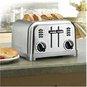 Cuisinart Four Slice 2-in-1 Toaster Toast Two Slices with Different Settings