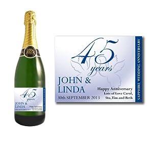 ... Bottle Label, 45 Years of Marriage Gift: Amazon.co.uk: Kitchen & Home