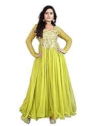 BK ENTERPRISE Women's Green Net Attractive Gown(bk-5009_freesize)
