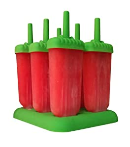 Groovy Freezer Popsicle Molds - Includes Free Popsicle Recipe eBook with 27 Delicious... by Ice Cube King