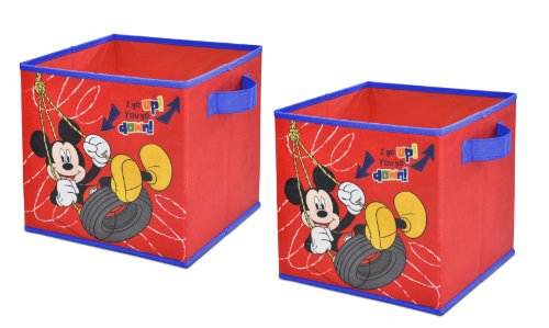 Disney  Mickey Mouse Storage Cubes, Set of 2, 10-Inch - 1