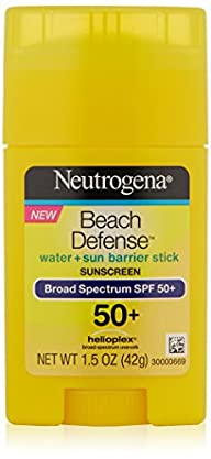Neutrogena Sunscreen Beach Defense Sunblock Stick SPF 50, 1.5 Ounce