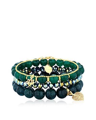 Coccola 3tlg. Set Armbänder Set Of Bracelets vergoldetes Silber 925
