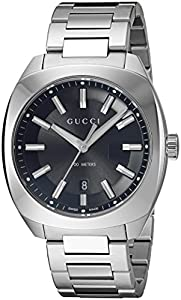 Gucci Men's Swiss Quartz Stainless Steel Dress Watch, Color:Silver-Toned (Model: YA142301)