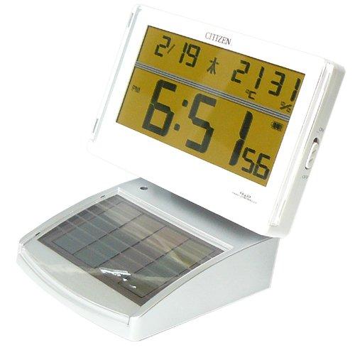 シチズン ソーラー電波時計 置き時計 デジタル目覚まし時計 パルデジットソーラーR045 [8RZ045-003](X251)