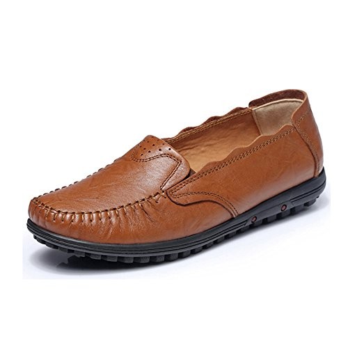 guciheaven-womens-enticing-simple-design-pierced-leather-loafers-cowhide
