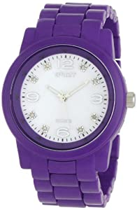 Sprout Women's ST5005MPPR  Diamond Dial Purple Corn Resin Bracelet Watch