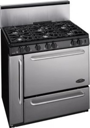 "Premier P36S328Bp Pro 36"" Stainless Steel Gas Sealed Burner Range"