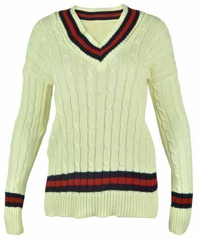 New Ladies V Neck Cable Knitted Cricket Jumper Womens Stretch Long Sleeve Stripe Top