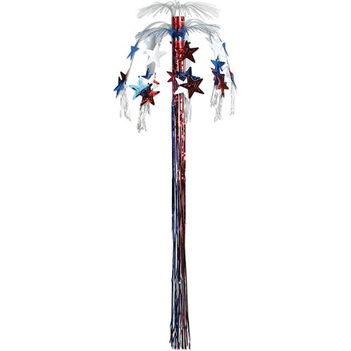 Star Cascade Fountain (red, white, blue) Party Accessory  (1 count) (1/Pkg)