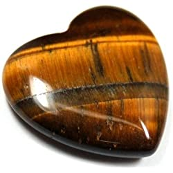 "Golden Tiger Eye Heart (3/4"") - 1pc."