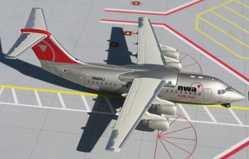 1: 200 ジェミニジェット Northwest Airlink RJ85 New / Final Colors (並行輸入)