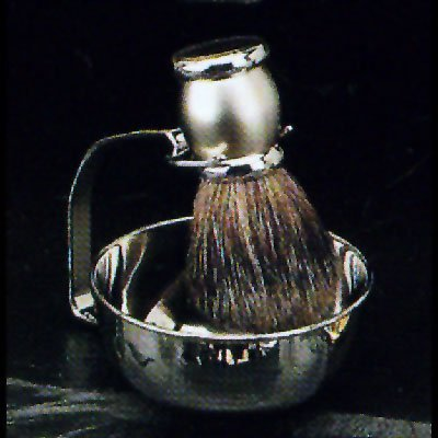 Stainless Steel Bowl Shave Shaving with Badger Brush
