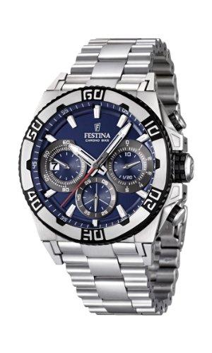Festina F16658/2 - Reloj cronógrafo de cuarzo para hombre con correa de acero inoxidable, color plateado