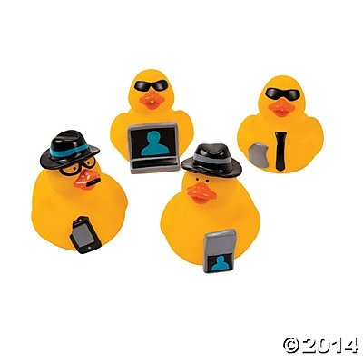 Secret Agent Rubber Ducks - 12 pcs