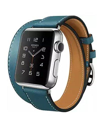 apple watch HELMES 38mm double tour blue  jean アップルウォッチ エルメス 青
