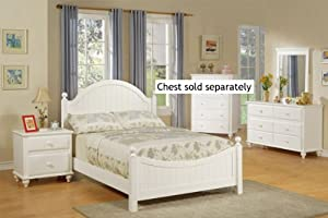 4pcs full size bedroom set cape cod style white finish
