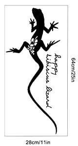 OneHouse Black Gecko Climb Animal Decal Vinyl Wall Mural for Home Wall by OneHouse