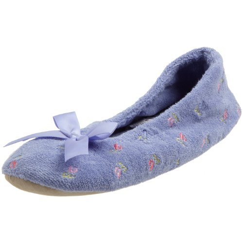 isotoner-womens-embroidered-terry-ballerina-slipper-perriwinkle-small