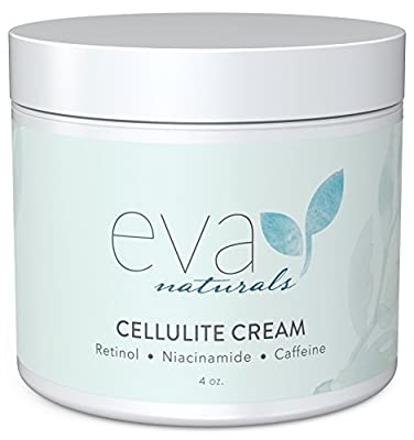 Cellulite Cream by Eva Naturals (4 oz) - Best Cellulite Treatment for Smoothing and Firming Skin - Fades Scars and Dark Spots while Enhancing Tone and Texture - With Caffeine, Retinol and Niacinamide