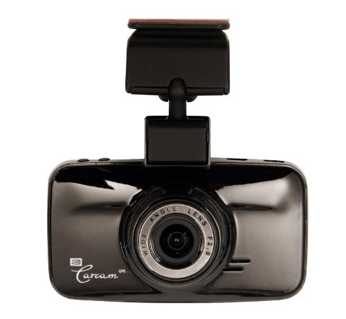 Jobo Carcam GPS pro Autokamera (Full-HD, G-Sensor, 180-deg Display/Video rotation, 2 Megapixel Photoauflösung, micro-SD Kartenslot) schwarz