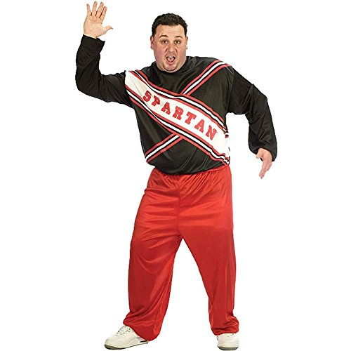 Male Spartan Cheerleader Plus Size Costume - Plus Size