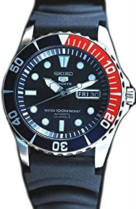 Seiko SNZF15K2 Mens Seiko 5 Sports Automatic Black Dial Strap Watch