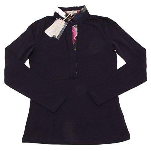 7663O polo manica lunga HENRY COTTON'S blu maglia donna t-shirt woman [40]