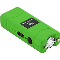 VIPERTEK VTS-881 - 28,000,000 V Micro Stun Gun - Rechargeable with LED Flashlight (Green)